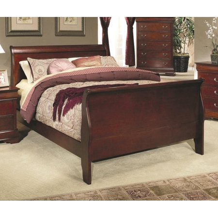 Louis Philippe 5 Piece Bedroom Collection In Rich Cherry Size California King