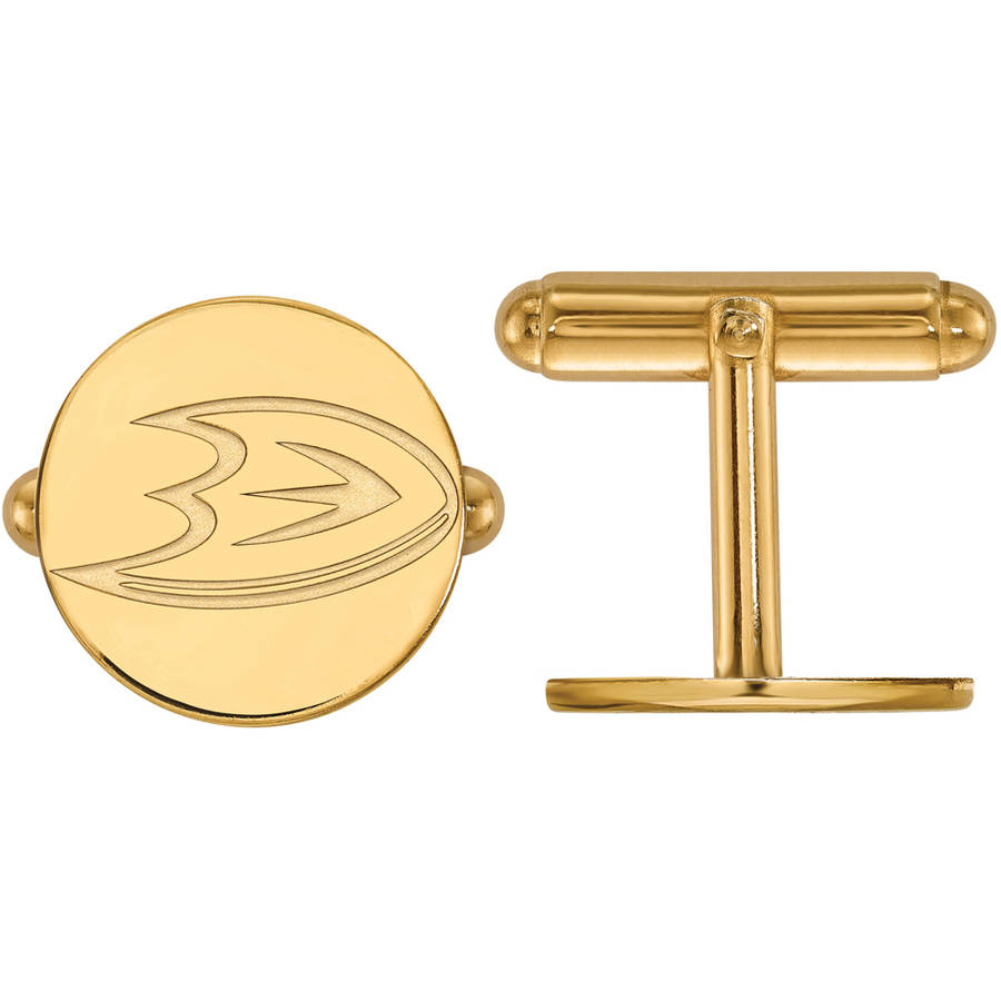 NHL Anaheim Ducks 14kt Yellow Gold Cuff Links
