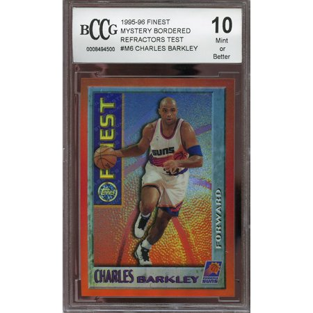 1995 96 Finest Mystery Bordered Refractors Test  M6 Charles Barkley Bgs Bccg 10
