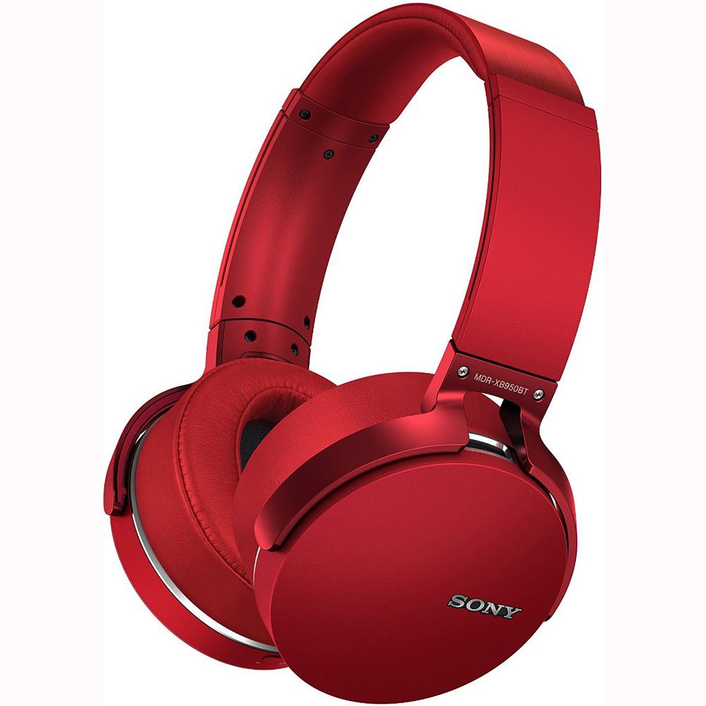 Sony XB950BT Extra Bass Bluetooth Headphones - Red