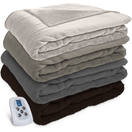 Serta Silky Plush Electric Heated Blanket with Programmable Digital