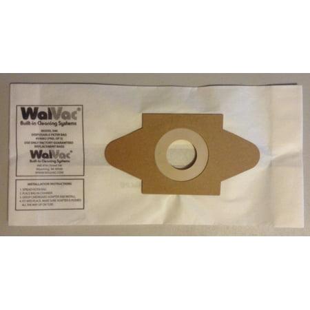 WalVac Bag 54062 Build in Central Vacuum System Vacuum Bag - WalVac OEM Bags - WalVac STOW-A-VAC Vacuum (Average Cost To Install Central Vacuum System)