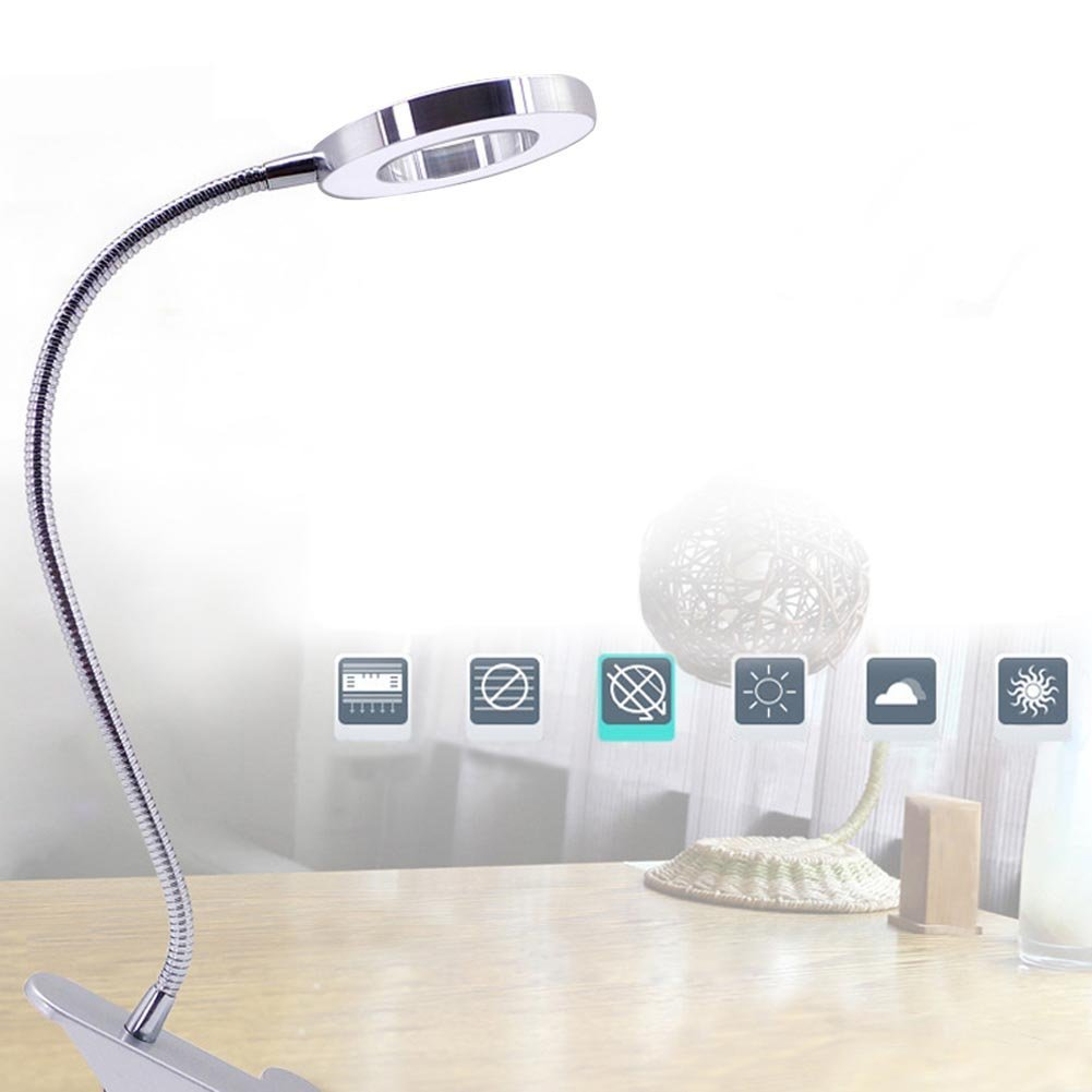 EECOO Desk Magnifier LED USB Tattoo Beauty Magnifier Lamp, 2.5X Cold Light  Magnifying Lamp