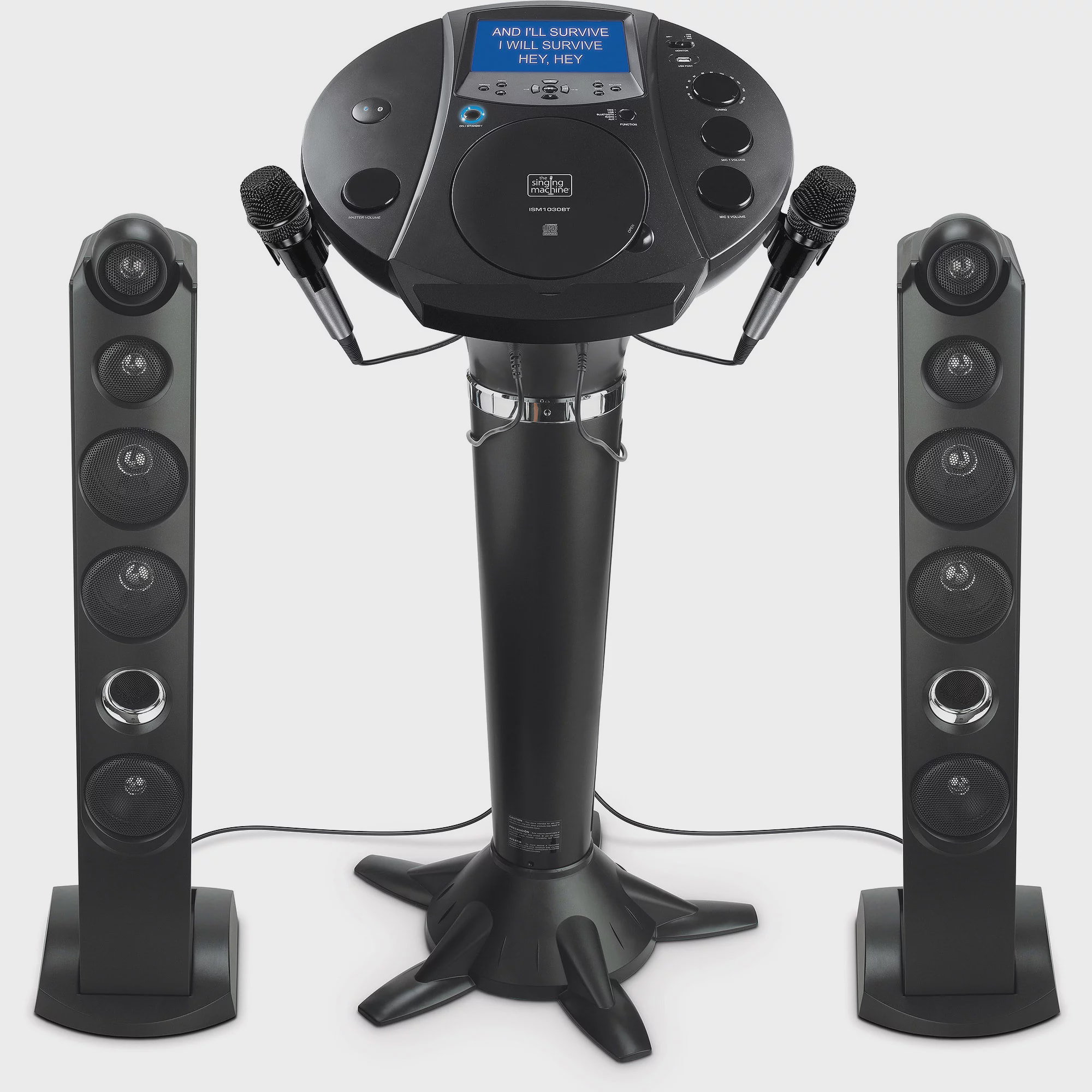 Singing Machine ISM1030BT Bluetooth Pedestal Karaoke System with Resting Tablet Cradle and... by The Singing Machine Co.