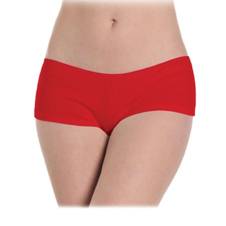 Red Low-Rise Stretch Spandex Sexy Boy Short Womens Panty Underwear (Sexy Women Spandex)