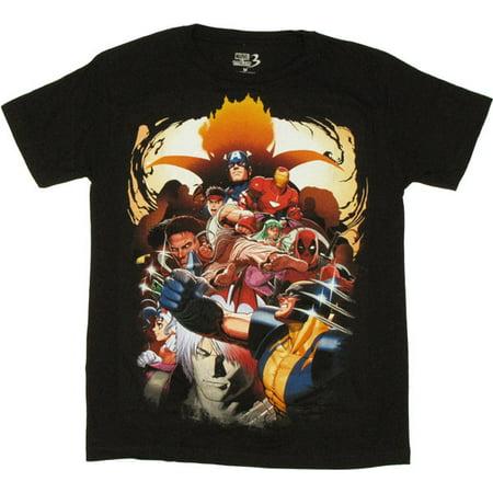 Marvel vs Capcom 3 Group T Shirt Sheer
