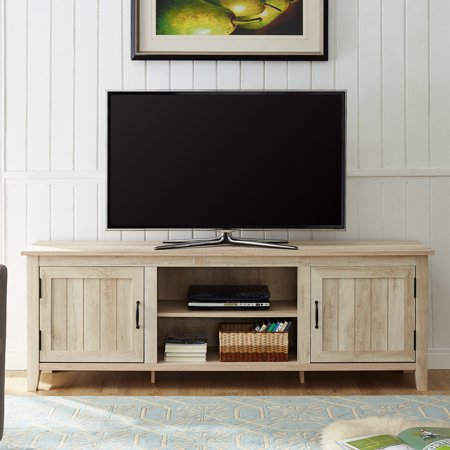 Manor Park Modern Farmhouse Tv Stand For S Up To 78 White Oak