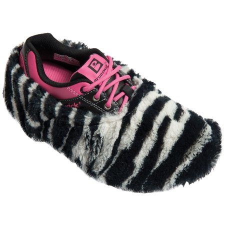Brunswick Fun Shoe Covers- Fuzzy Zebra