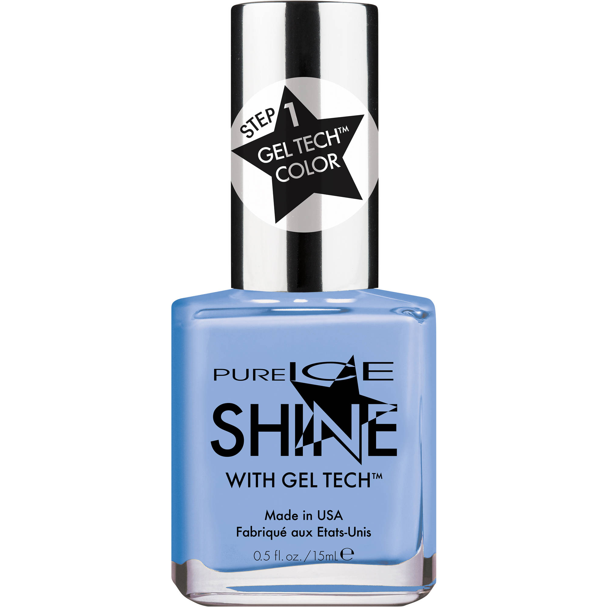Pure Ice Shine with Gel Tech Nail Polish, Rain & Shine, 0.5 fl oz
