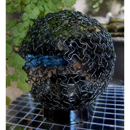 - Fantado Mesh Wire Candle Lantern - Black by PaperLanternStore