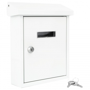 Indoor Outdoor Wall Mount Locking Mailbox by Serene Life