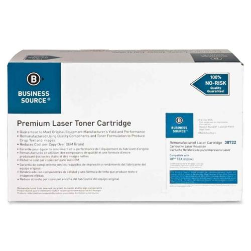 Business Source Remanufactured Laser Cartridge, 12500 Page Yield, Black