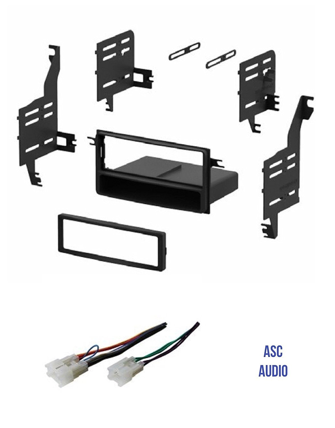 asc single din car stereo install dash kit and wire ... 2009 scion xd wiring diagram #11