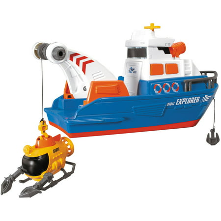 Tin Toy Boats (Dickie Toys Large Action Explorer Boat )