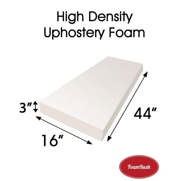 Foamrush 3 H X 16 W X 44 L Upholstery Foam Cushion Medium