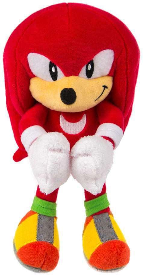 Tomy Sonic The Hedgehog Classic Smiling Knuckles 8 Stuffed Plush Figure Walmart Com Walmart Com