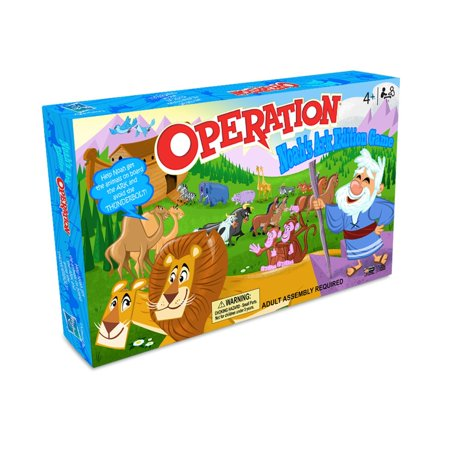 Operation: Noah's Ark Edition Board Game, (15 Piece)Fun for the entire family or solo By - Operation The Board Game