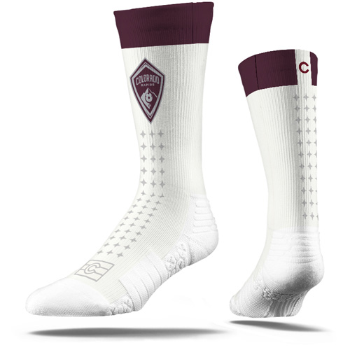 Colorado Rapids Premium Sublimated Crew Socks - White - M/L