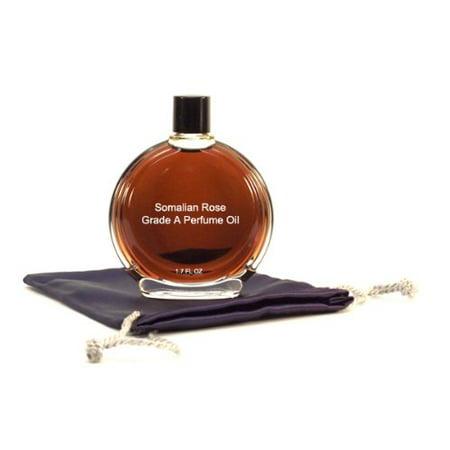 Somalian Rose Perfume Oil - 1.7 oz in Premium Glass Bottle (Floral Perfume Bottle)