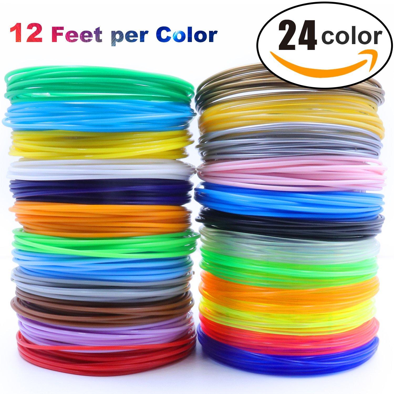 3D Pen/3D Printer Filament,1.75mm PLA Filament Pack Of 24