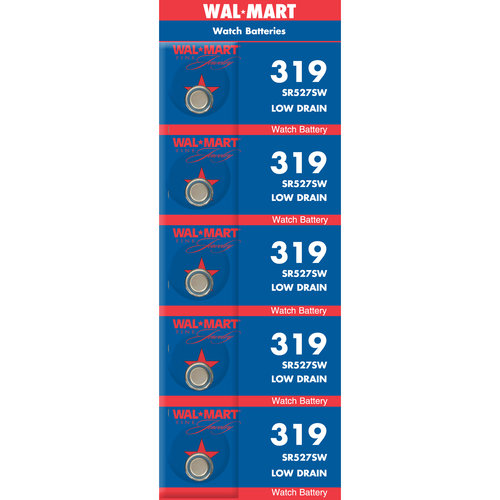 Wal-Mart Mercury-Free Silver Oxide 319 Watch Battery