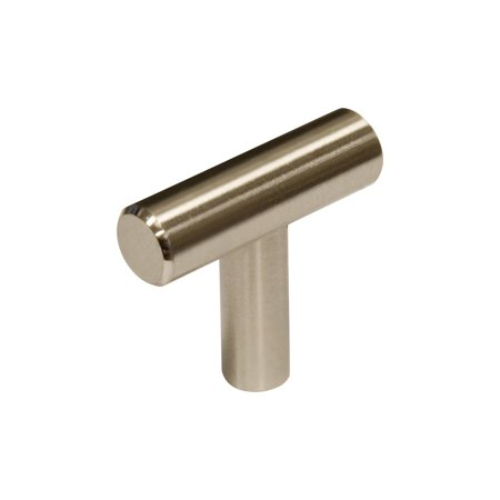 5 Pack Rok Hardware Contemporary Metal Pull, Brushed Nickel, 1-9/16