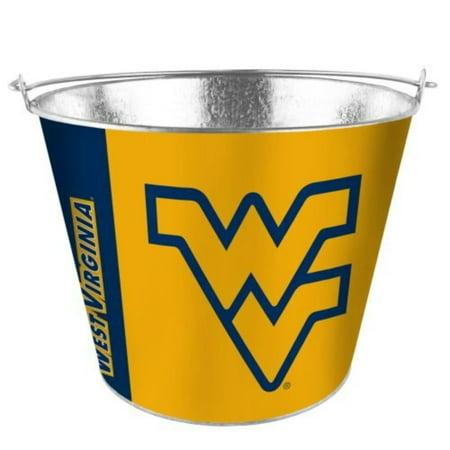 NCAA West Virginia - Color Metal Beer Bucket | WVU Mountaineers 5 Quart Ice Pail - Hype Design, 5 Quart Metal Beer Bucket By BeerBucketsPLUWalmart (Mountaineers Bucket)