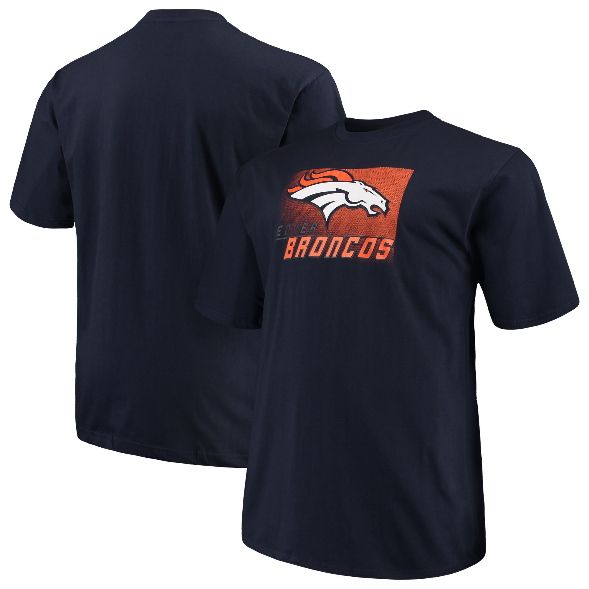 Men's Majestic Navy Denver Broncos Big & Tall Reflective T-Shirt