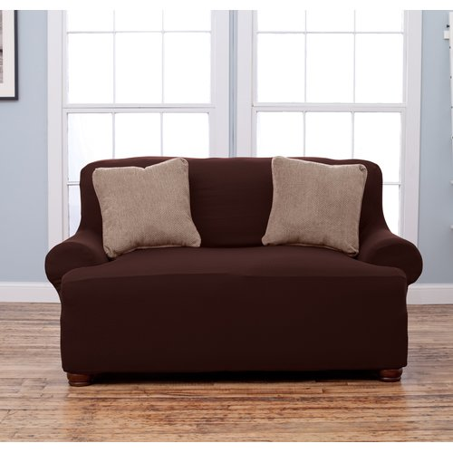 Home Fashion Designs Lucia T-Cushion Loveseat Slipcover