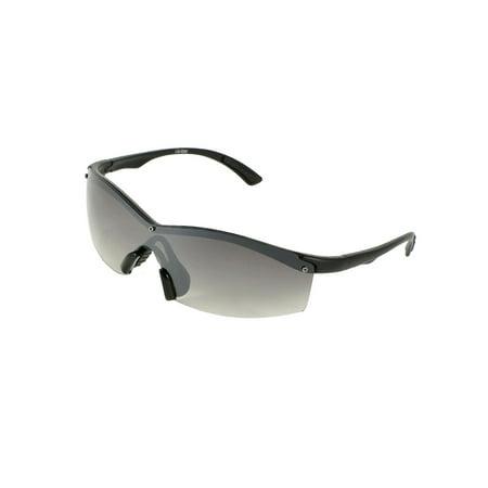 ca4337a8fe2 Unique Bargains - Black Half Rim Colored Lens Sports Sunglasses Eyeglasses  for Ladies Men - Walmart.com