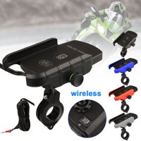 Wireless Motorcycle Phone Charger, EEEkit Motorcycle Cell Phone Holder with Charger for Samsung Galaxy S10 S10+ S10E S9 iPhone 11/11 Pro XR/Xs Max/XS/X/8/8 Plus and More