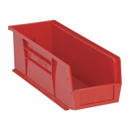 Quantum Storage Systems 50 lb Capacity, Hang and Stack Bin, Red QUS234RD
