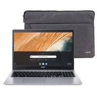 "Acer 315 15.6"" Celeron 4GB/32GB Chromebook, 15.6"" HD Display, Intel Celeron N4000, 4GB LPDDR4, 32GB eMMC, Protective Sleeve, Chrome OS - CB315-3H-C2C3"