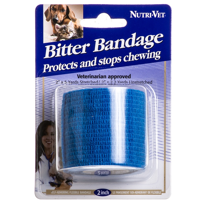 """Nutri-Vet Bitter Bandage for Dogs & Cats 1 Roll - (2\"""" x 5 Yards Stretched)"""