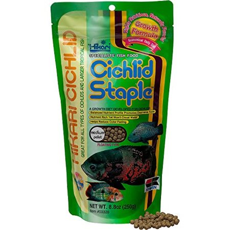 - Hikari Cichlid Staple Medium Pellet Fish Food, 8.8 Oz