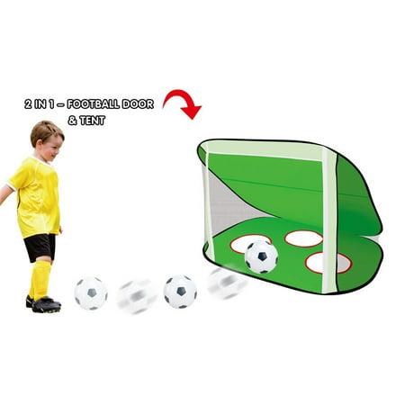 Iuhan 2 in 1 Pop Up Kids Soccer Goal Portable Kids Soccer Net Kids Soccer