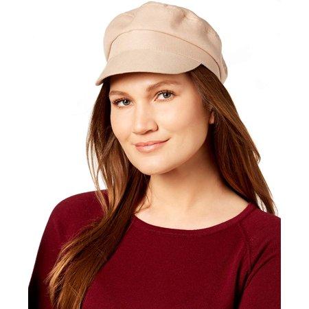 Nine West Women's Cotton Canvas Newsboy Cap (Khaki, One Size)
