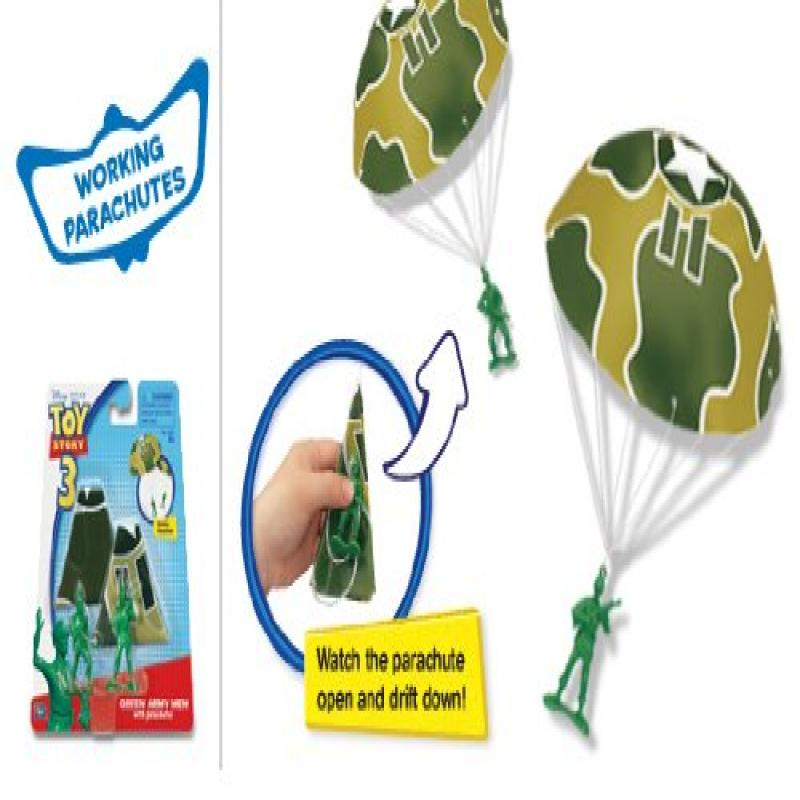 Thinkway TOY STORY 3 GREEN ARMY MEN WITH PARACHUTES