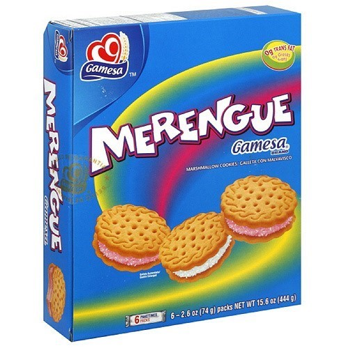 Gamesa Merengue Marshmallow Cookies, 15.5 oz (Pack of 12)