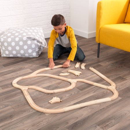 KidKraft Wooden Expansion Track Pack with 38 accessories included