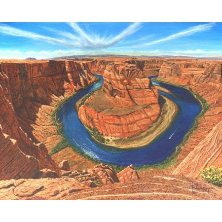 Horseshoe Bend Colorado River Arizona Rolled Canvas Art   Richard Harpum  20 X 16