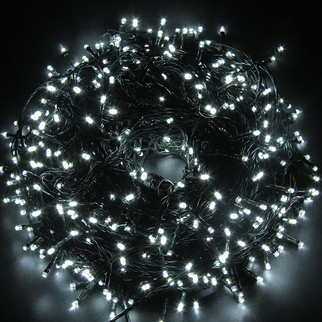 excelvan 24v 500 leds 100m cool white string fairy lights lighting 8 modes walmartcom