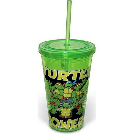 Teenage Mutant Ninja Turtles: Turtle Power: 16 oz. Plastic Cold Cup with Lid & - Teenage Mutant Ninja Turtles Cups