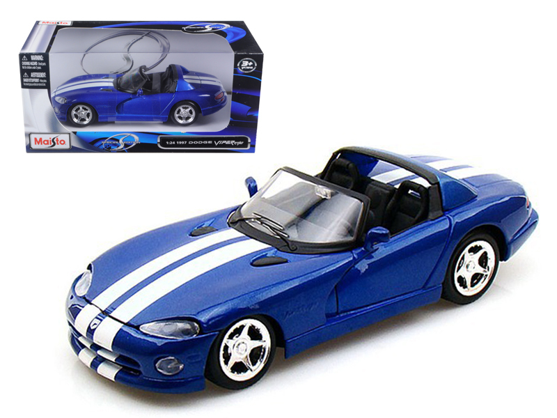 1997 Dodge Viper RT 10 Blue 1 24 Diecast Model Car by Maisto by Diecast Dropshipper