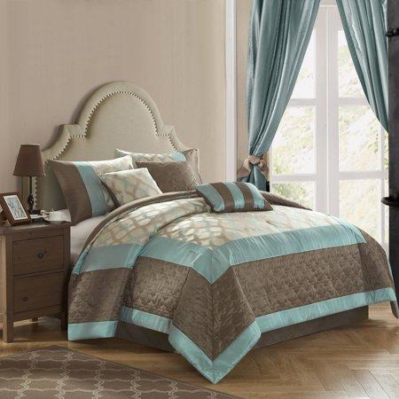 Better homes garden lattice 7 piece beding comforter set best comforter sets for Better homes and gardens bed in a bag
