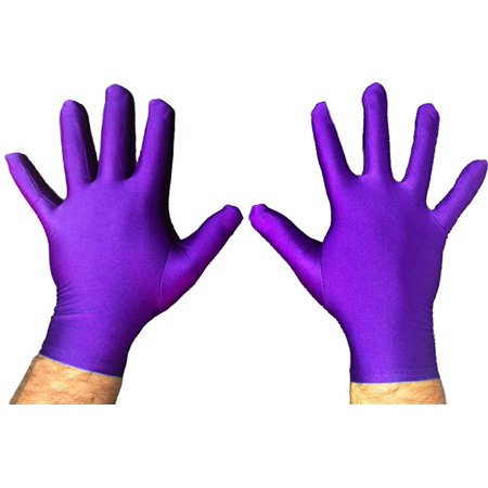 Superhero Short Costume Gloves (Superhero White Costume)