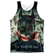 Dark Knight Stacked Hand (Front Back Print) Mens Sublimation Tank Top Shirt