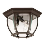 Savoy House Exterior Collections Flush Mount in Black