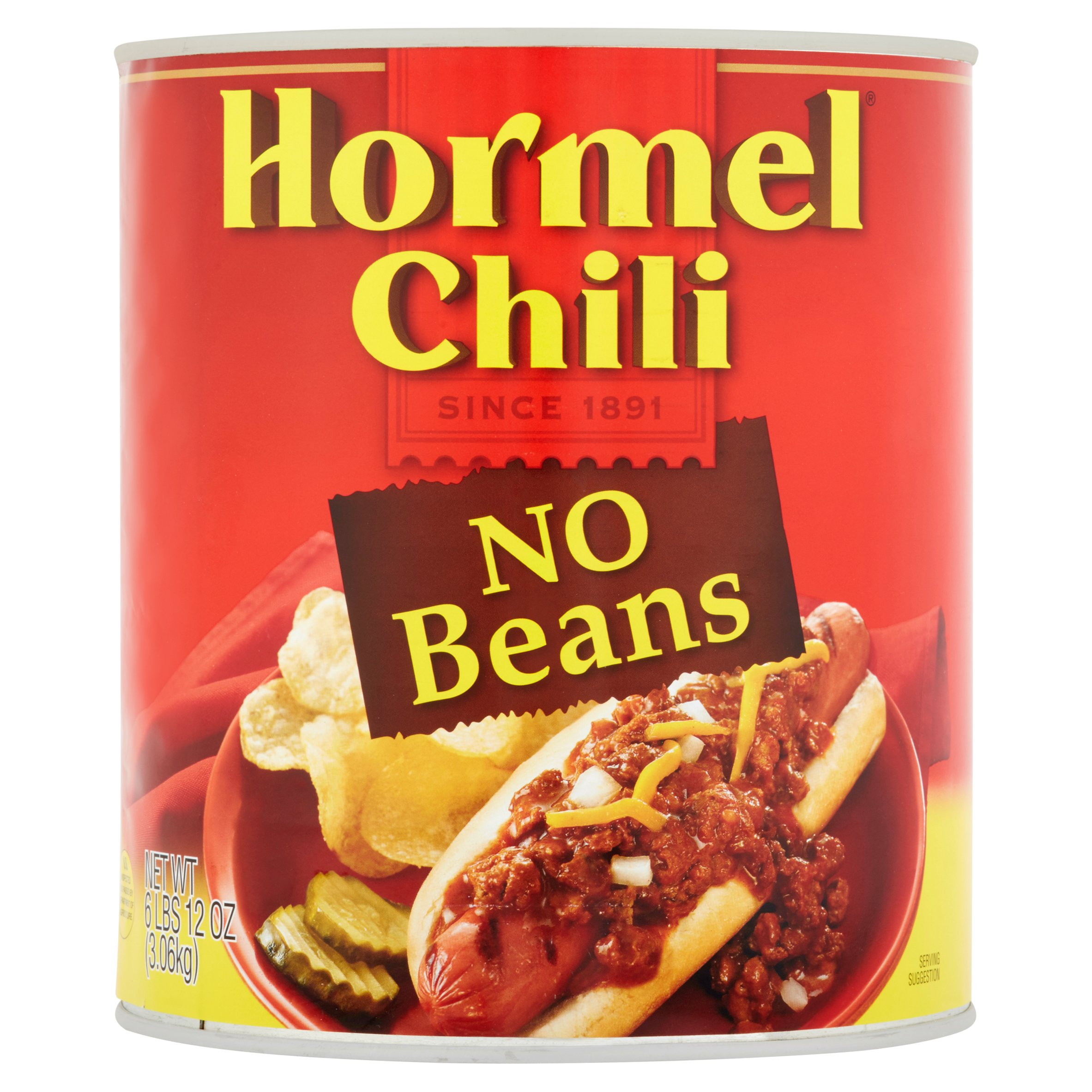Hormel Chili No Beans, 6 lbs