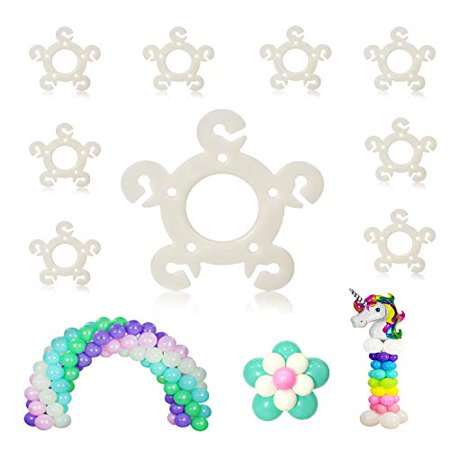 Balloon Ring  Clips, 120pcs, for Balloon Arch, Balloon Column Stand and Balloon Flowers Birthday Decoration - Halloween Balloons Columns